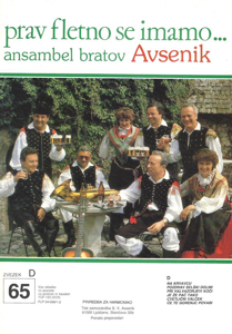 Picture of Big radio hits of the Avsenik Quintet nr.65