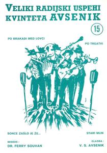 Bild von Die größten Radioerfolge des Quintetts Avsenik Nr. 15