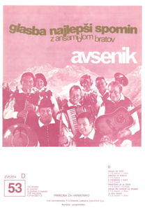 Picture of Big Radio Hits of the Avsenik Quintet No. 53