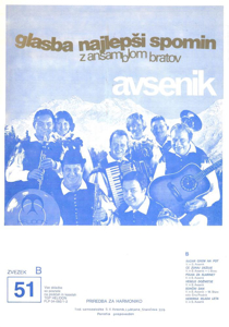 Picture of Big Radio Hits of the Avsenik Quintet No. 51