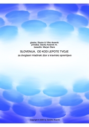 Slika Slovenija, od kod lepote tvoje - za 2 glasni mladinski zbor s klavirjem
